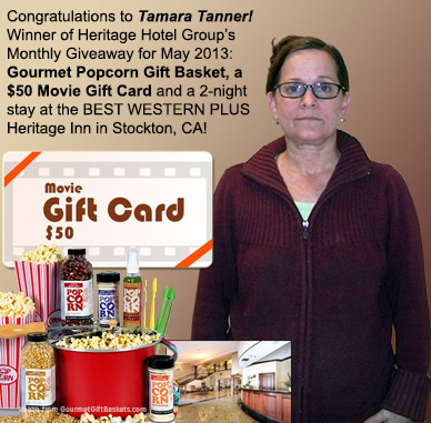 Photo of Tamara winner of Heritage Hotel Group's monthly giveaway