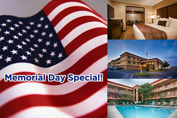 May special upgrade for hotel in Roseville CA