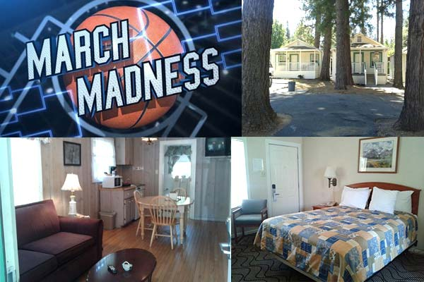 March Madness special 15 percent off for hotel in Nevada City CA