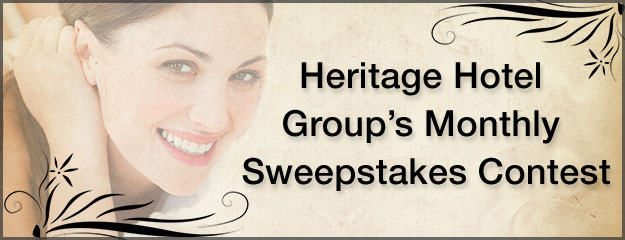 Win Monthly Sweepstakes with Heritage Hotel Group
