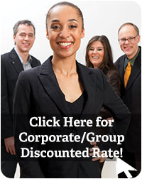 Image of corporate people smiling. Click here for corporate/group discounted rate inquiries
