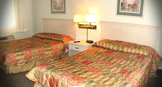 Two beds in Chico CA hotel